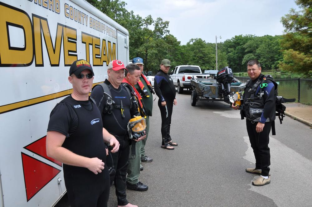 Craighead County Dive Team-Training Day at Craighead Forest Lake